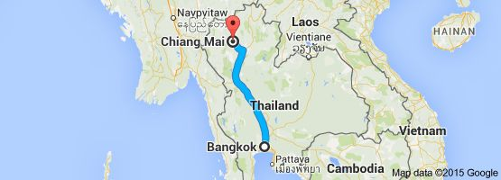 From: Bangkok, Thailand To: Chiang Mai, Mueang Chiang Mai District, Chiang Mai, Thailand