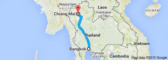 From: Bangkok, Thailand To: Chiang Mai, Mueang Chiang Mai District, Chiang Mai, Thailand