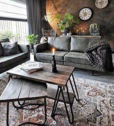 15 Top Raised Ranch Interior Design Ideas To Steal: 9 Miraculous Unique Ideas Industrial Sofa Grey Industrial