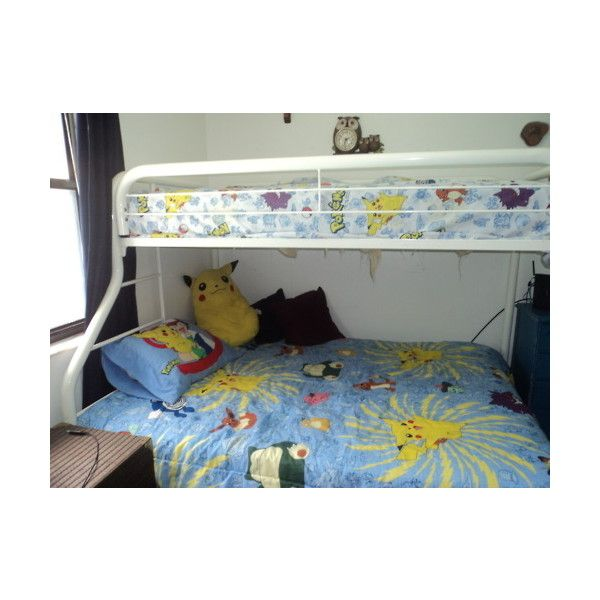 pokemon bed sheets | Tumblr ❤ liked on Polyvore featuring bedrooms, house, pictures, room and home