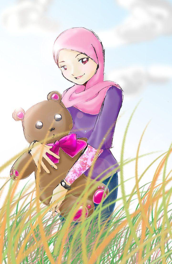 Gambar Wallpaper Kartun Hijab Kumpulan Wallpaper