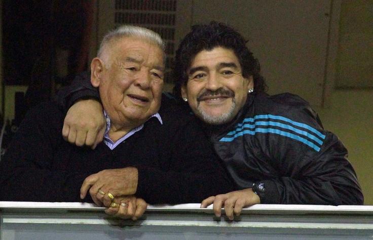 Maradona & his Dad