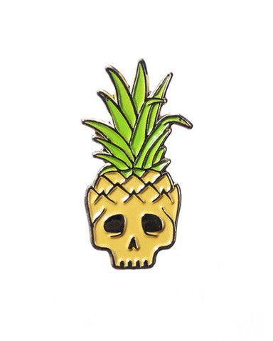 Pineapple Skull Lapel Pin – Strange Ways