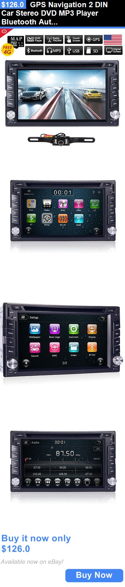 Vehicle Electronics And GPS: Gps Navigation 2 Din Car Stereo Dvd Mp3 Player Bluetooth Auto Radio Ipod+Camera BUY IT NOW ONLY: $126.0