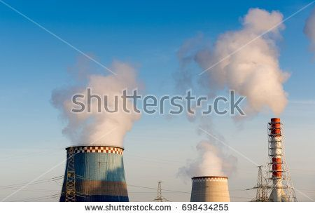 Thermal power station exhaust steam