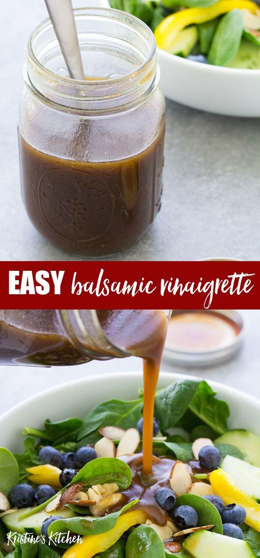 Easy Balsamic Vinaigrette Dressing Recipe This Simple Balsamic Vinai Balsamic Vinaigrette Dressing Recipe Vinaigrette Dressing Recipe Balsamic Dressing Recipe