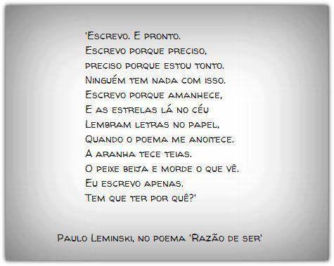 Poesia...: Quotes De, Books, Menu, Bom De, De Ler, Poetry, Leminski S, Paulo Leminski, Be