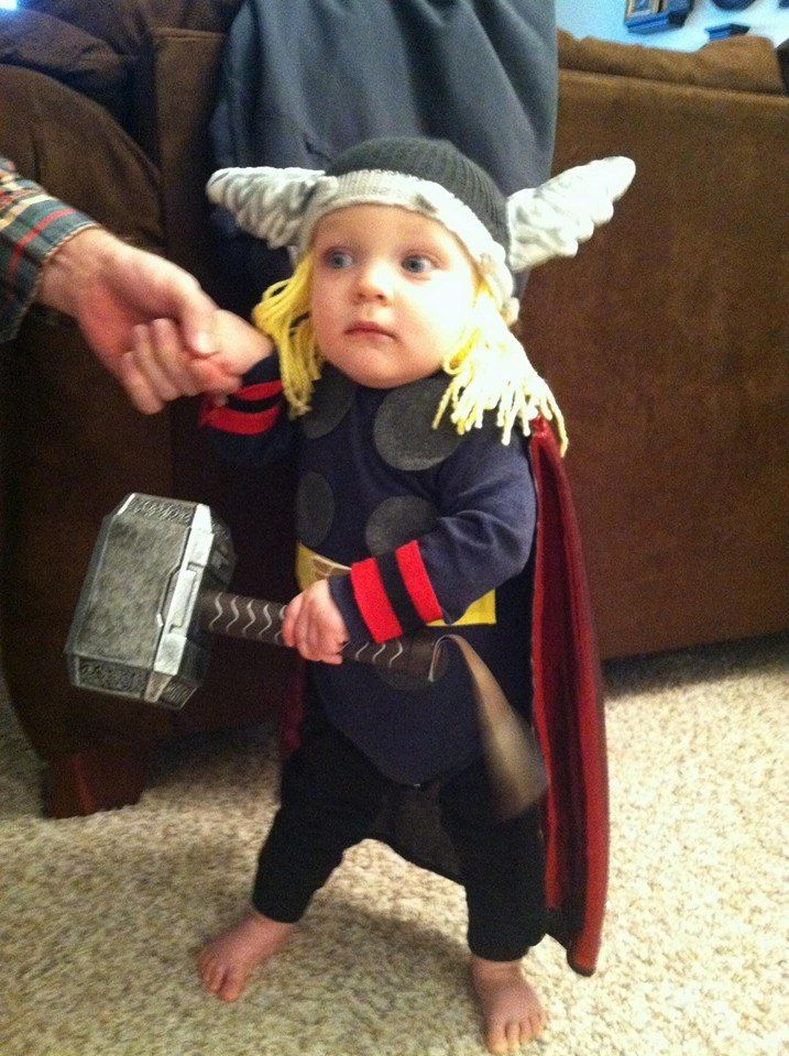 Mighty Thor Our Baby First Halloween Diy Costume