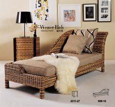 Weaver - muy natural muebles de rattan mimbre sofá reclinable dormitorio sala de estar ocio - Dean chaise longue