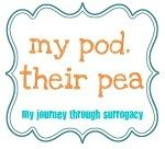 My Pod. Their Pea.  My journey through #surrogacy.  #infertility #fertility #ivf