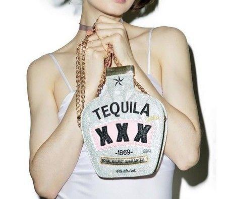 Bolsa tiracolo garrafa de tequila