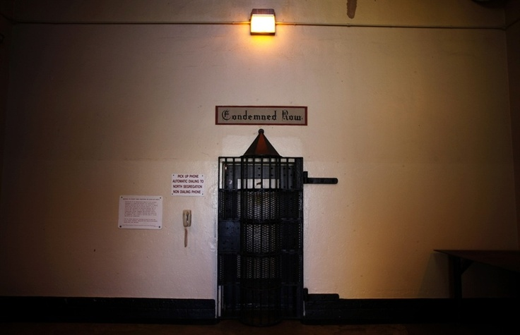 The entrance to death row at San Quentin state prison