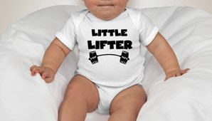CrossFit Onesie and CrossFit Baby Clothes. Workout Baby Clothes. Little Lifter Onesie. by LatitudeGearRx on Etsy https://www.etsy.com/listing/202104925/crossfit-onesie-and-crossfit-baby