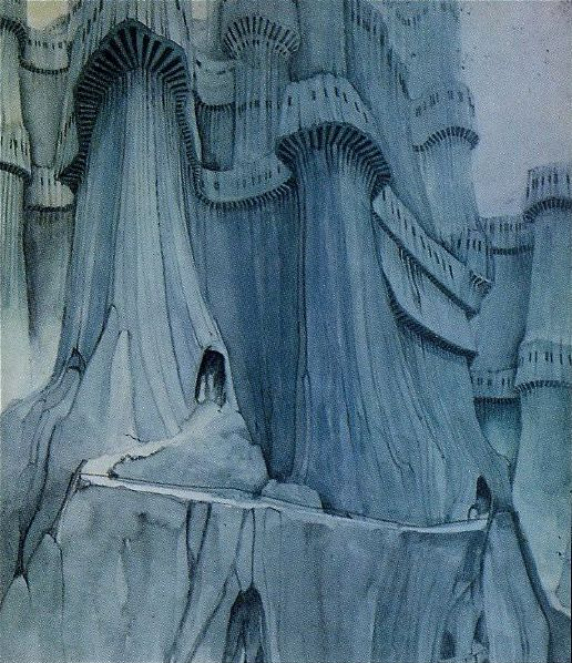 Roger Dean (English, b. 1944, Ashford, Kent, UK) - Artwork for Yes' Relayer Booklet Fold Out Right, 1974