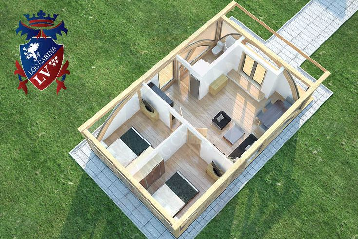 Residential Timber Frame Glulam Insulated Park Home by www.logcabins.lv (5)