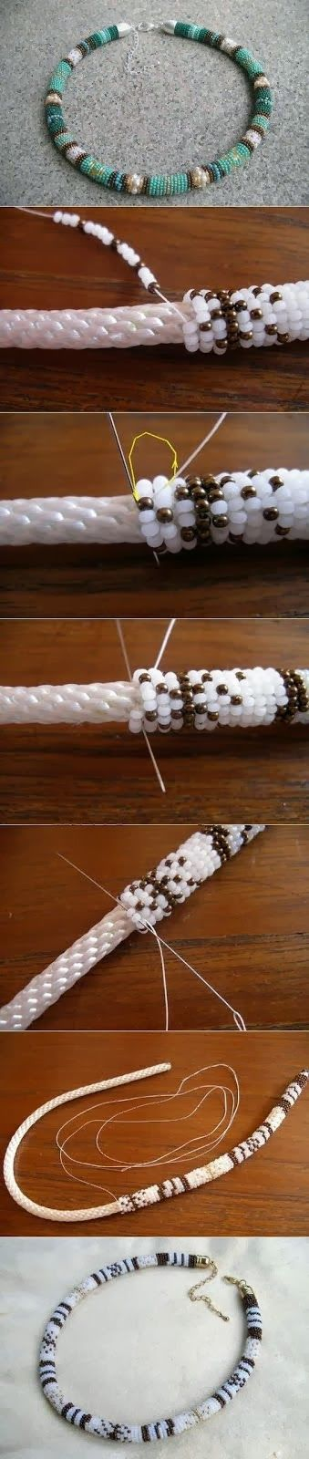DIY : Make a Beaded Rope Necklace