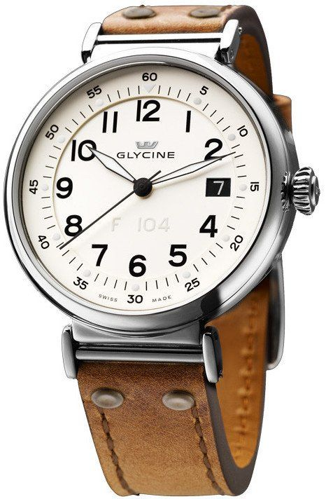 Glycine F104 Automatic 40mm #bezel-fixed #bracelet-strap-leather #brand-glycine #case-material-steel #case-width-40mm #date-yes #delivery-timescale-call-us #dial-colour-white #gender-mens #luxury #movement-automatic #official-stockist-for-glycine-watches #packaging-glycine-watch-packaging #subcat-f104 #supplier-model-no-3933-14at-lb7r #warranty-glycine-official-2-year-guarantee #water-resistant-30m