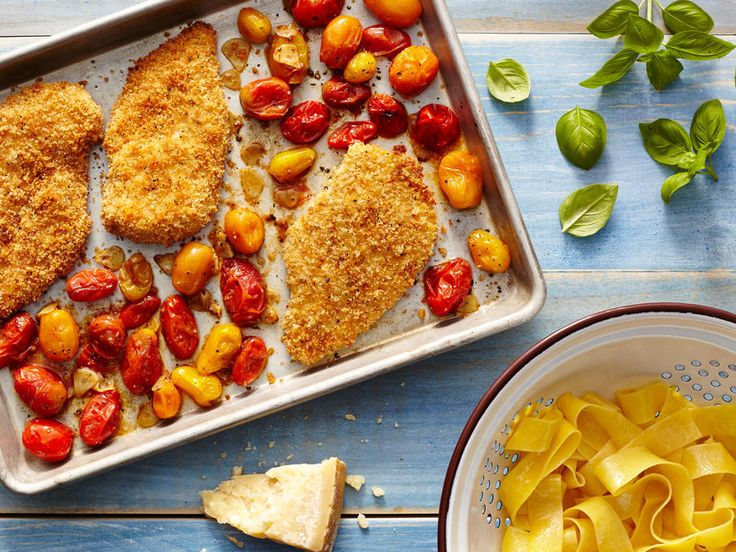 Combine the simplicity of a sheet pan dinner with the classic comfort of chicken Parmesan in this simple weeknight recipe. Clever use of ...