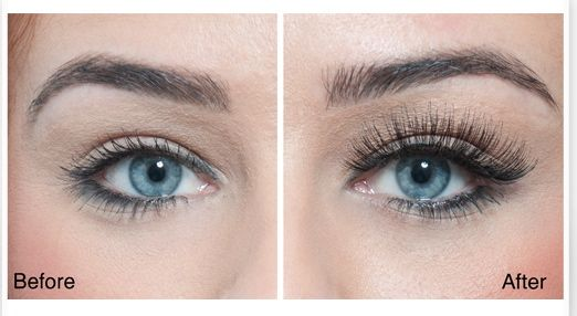 Before and after #flaseEyelashes Beauty Works London