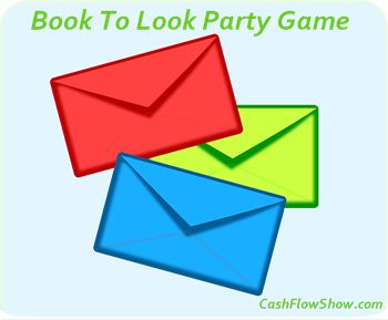 The Book To Look envelope game is fun and will guarantee that you get 2 or more bookings at every #HomeParty! Learn how to play! http://www.createacashflowshow.com/party-games/book-to-look.htm