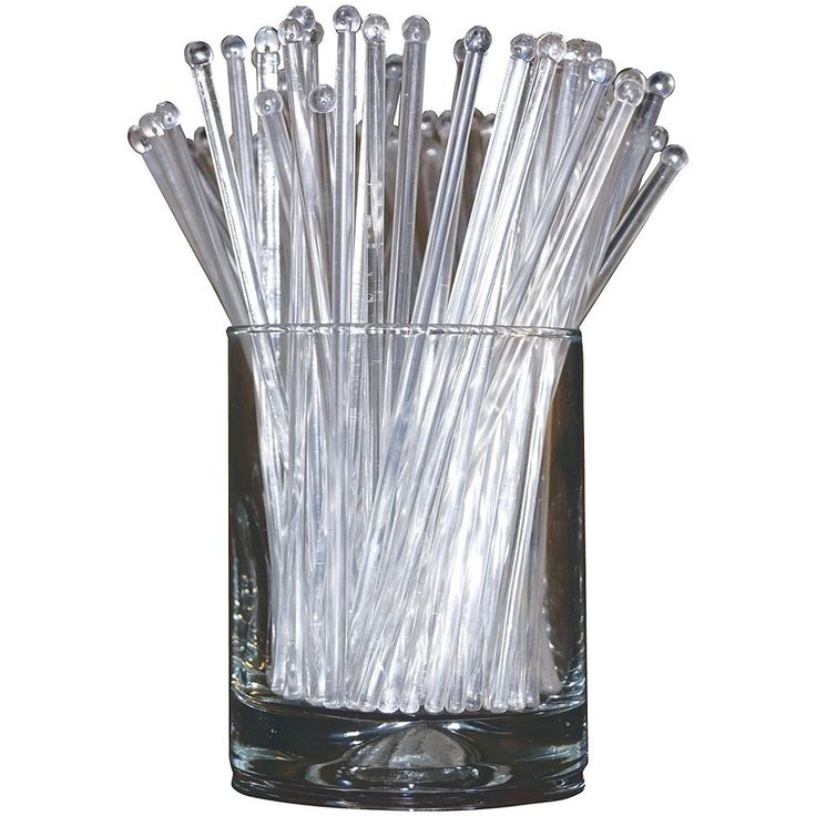 Plastic Swizzle Sticks Stirrers Set Crystal Party Drink Cocktail Mixing 48 Count #SwizzleSticks