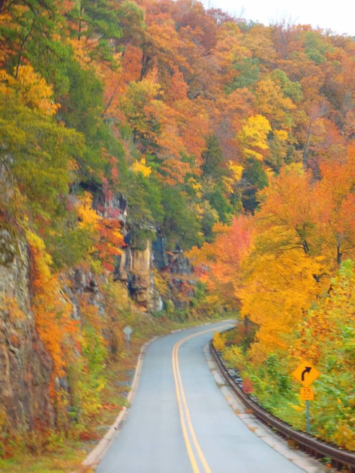 Arkansas hwy 23 - it is beautiful, especially in the fall.