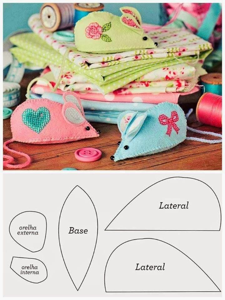 Little Kimono Handmade ❣ ❣: A very cuqui mouse for pins