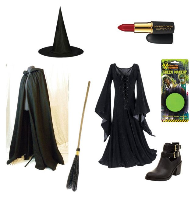"""Elphaba Costume"" by lukeisperfect ❤ liked on Polyvore featuring MAC Cosmetics, Halloween, Costume, wicked, elphaba and wickedwitchofthewest"