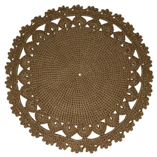 Doily | Recycled Floor Rug | Natural| Recycled Mats