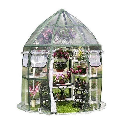 Cheap stylish and very practical. Just the job if you need a little greenhouse