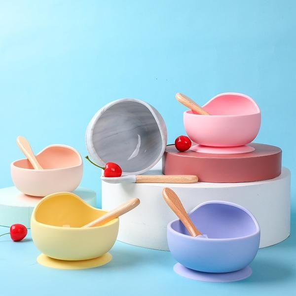 Suction Cup Bowls Frenchic Baby In 2020 Baby Feeding Set Baby Feeding Silicone Bowl