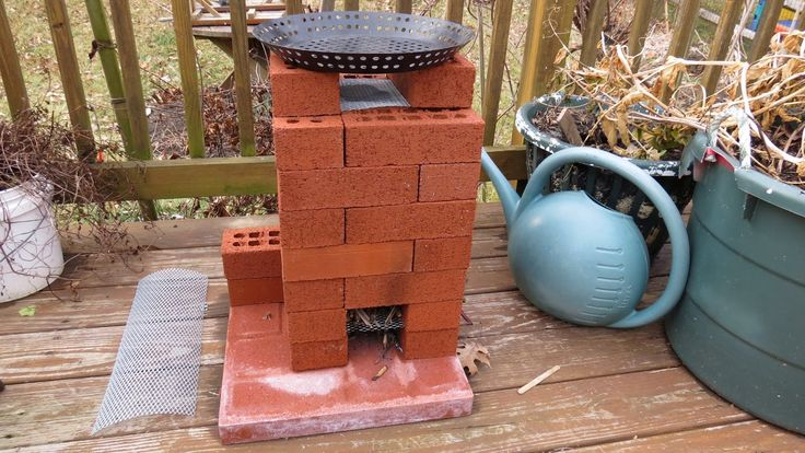 How To Build A Brick Rocket Stove For Fire Roasting