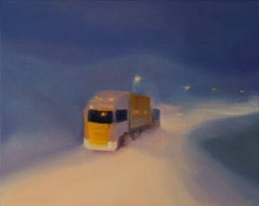 "Saatchi Art Artist Marta Zamarska; Painting, ""Winter Impression 28"" #art"