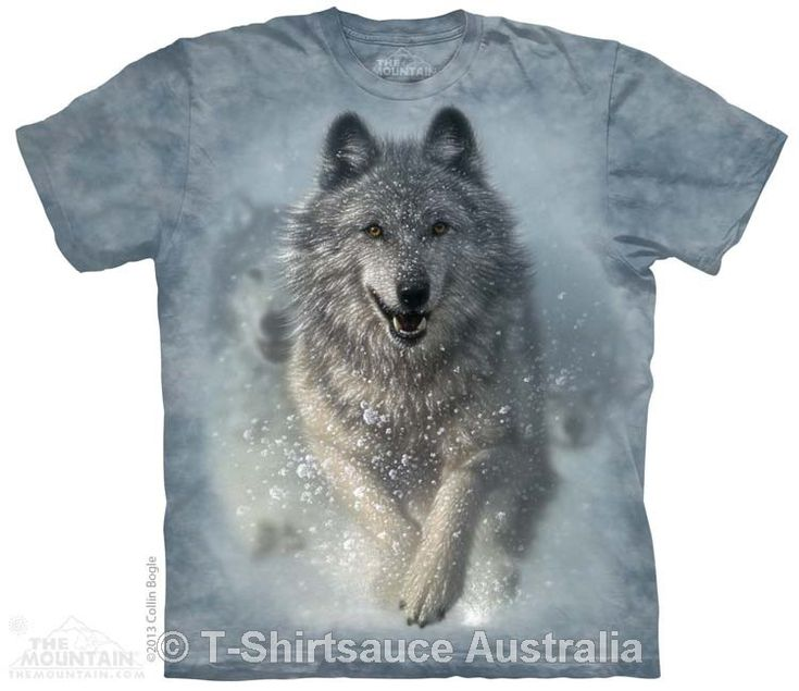 Snow Plow Adults Wolf T-Shirt
