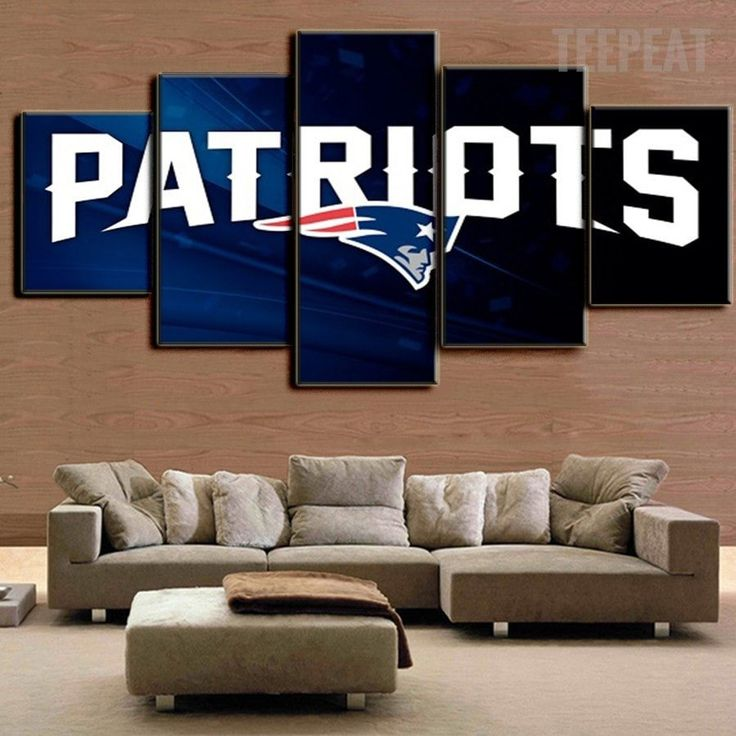 New England Patriots - 5 Piece Canvas Painting-Canvas-TEEPEAT