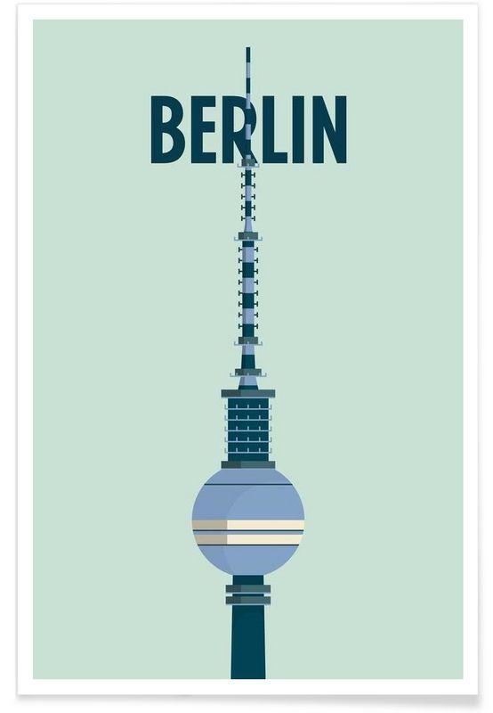 Berlin - Designliga Products - Affiche premium