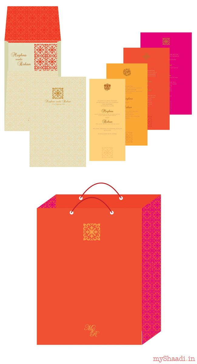 Indian Wedding Cards & Samples: Go for Youthful and Bright colours this Summer!