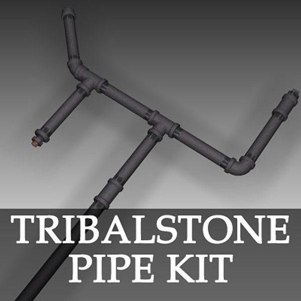 Fabulous TS Galvanized Pipe Kit Model available on Turbo Squid the world us leading provider of digital models for visualization films television and games
