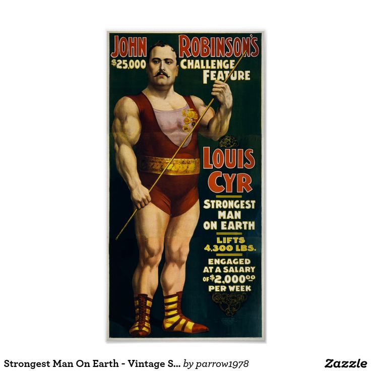 Strongest Man On Earth - Vintage Strongman