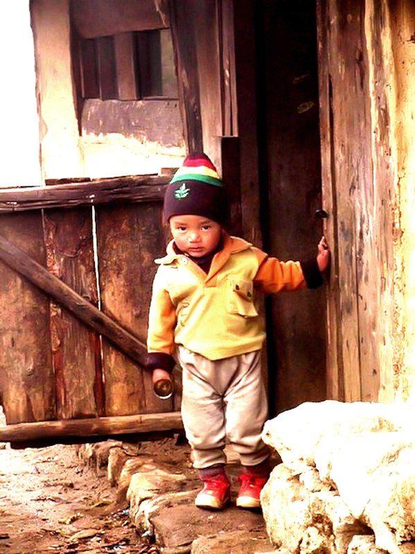 Inquisitive Child - Manebhanjang, West Bengal