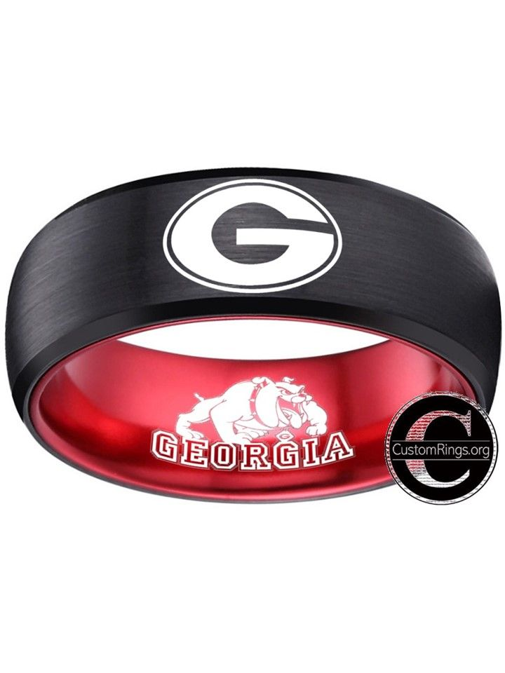 "University of Georgia Bulldogs Brown Leather Belt Size 28/"""