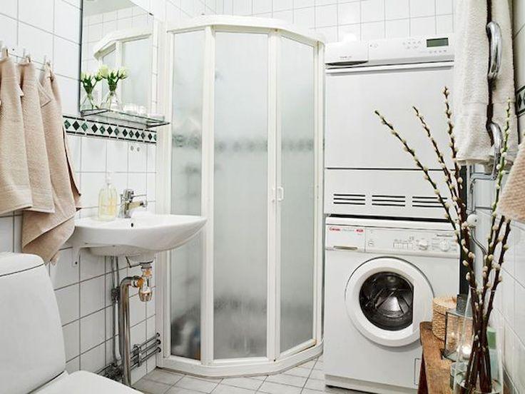 60 amazing tiny apartment laundry room decor ideas (47)