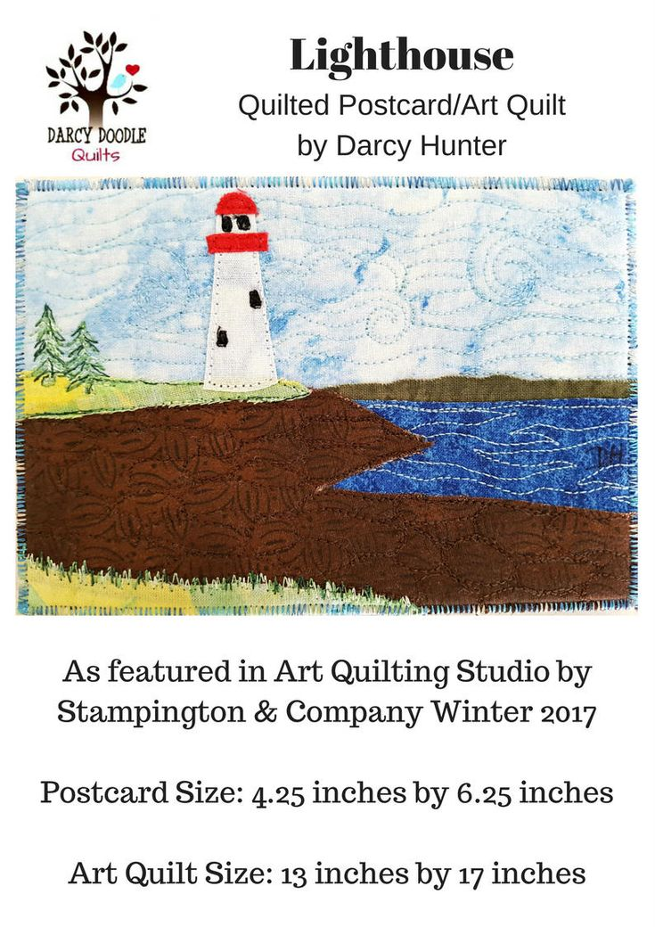 Lighthouse Quilt PAPER PATTERN / Quilting Patterns / Quilt Pattern / Simple Quilt Patterns / Art Quilt Patterns / Gifts for Quilters by DarcyDoodleQuilts on Etsy