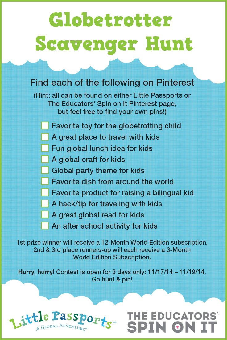 Pinterest Scavenger Hunt Raising a Global Kid (With