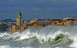 San Lorenzo Beach. Gijón Asturias Spain