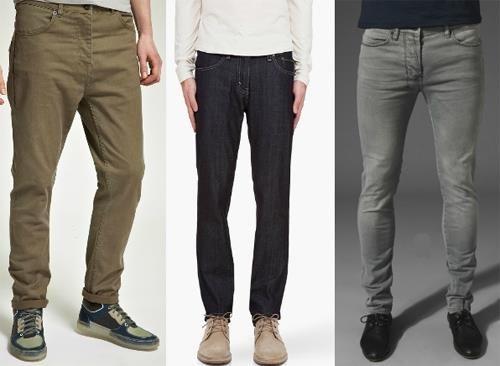 С чем носить зауженные мужские брюки
