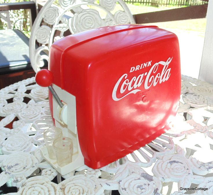 Vintage Toy Coca Cola Dispenser Complete with Mechanism & Glasses Good Condition. All Intact by GraysideCottage on Etsy