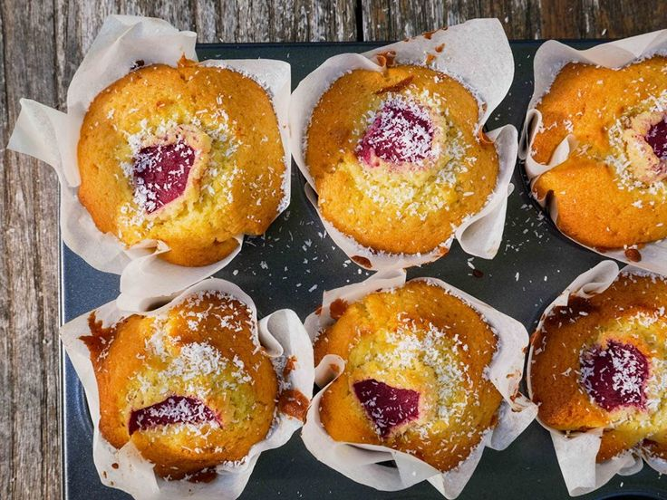 Plum and Coconut Muffins