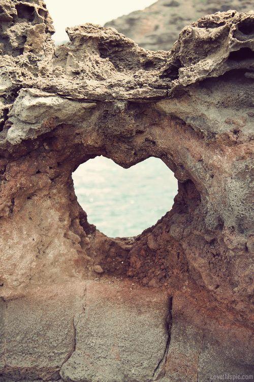 #Beautiful photography# Heart shaped hole summer beach ocean heart cool rock