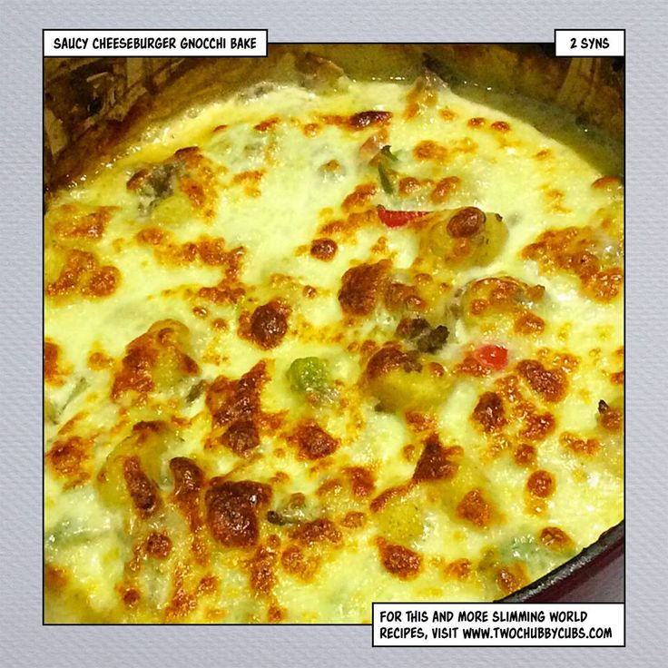 This saucy cheeseburger gnocchi bake combines mince, gnocchi (yes!) and cheese into a marvellous low syn Slimming World dinner. Easy to make too! Remember, at www.twochubbycubs.com we post a new Slimming World recipe nearly every day. Our aim is good food, low in syns and served with enough laughs to make this dieting business worthwhile. Please share our recipes far and wide! We've also got a facebook group at www.facebook.com/twochubbycubs - enjoy!